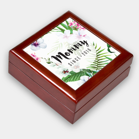 Personalized Mommy Floral Keepsake Box