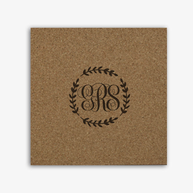 Personalized Monogram Cork Memo Board