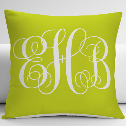 Personalized Monogram Decorative Cushion Cover