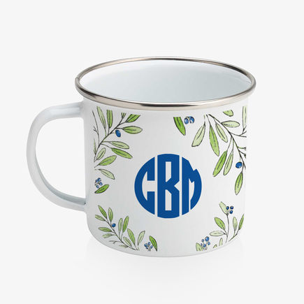 Personalized Monogram Enamel Coffee Mug
