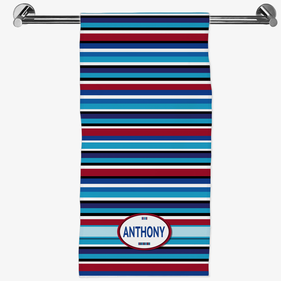 Personalized Striped Hand Towel