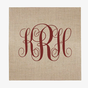 Personalized Monogram Jute Wall Art