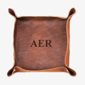 Personalized Monogram Leather Stash Tray
