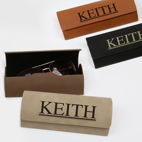 Personalized Monogram Leatherette Eyeglass Case