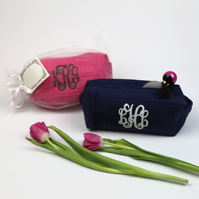 Personalized Monogram Makeup Bag Gift Set