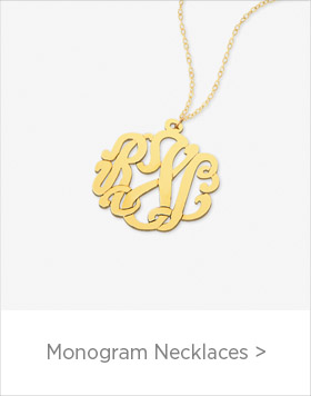 Personalized Monogram Necklaces