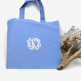 Personalized Monogram Cotton Tote Bag
