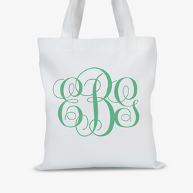 Personalized Monogram Tote Bag