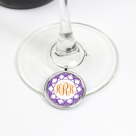 Personalized Monogram Wine Glass Charm