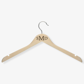 Personalized Monogram Wooden Hanger