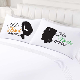 Personalized Monster Couple Pillowcase Set