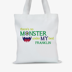 Personalized Monster Kids Tote Bag