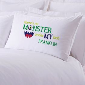 Personalized Monster Pillowcase