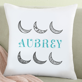Personalized Moon In The Sky Cushion Cover
