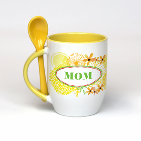 Personalized Mother's Mug with Spoon