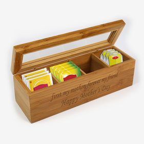 Personalized Mother's Wood Tea Box