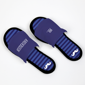 Personalized Moustache Adjustable House Slippers