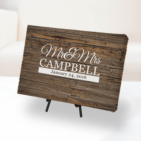 Personalized Mr. and Mrs. Canvas Print