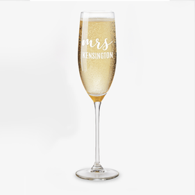 Personalized Mr. / Mrs. Toasting Flute