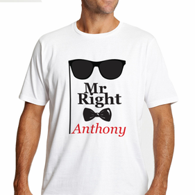 Personalized Mr. Right T-Shirt