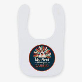 Personalized My First Thanksgiving Baby Bib