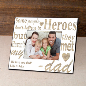 Personalized My Hero Father's Day Frame