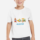 Personalized My Little Working Man Kids T-Shirt