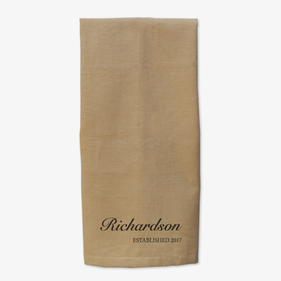 Personalized Name and Date Kitchen Towel