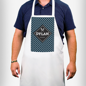 Personalized Diamond Design Apron