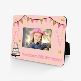 Personalized Birthday Celebration Hardboard Picture Frame