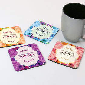 Inspirational Quotes Personalized Coaster Set of Four