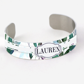 Personalized Name Aluminum Cuff Bracelet