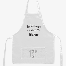 Personalized Name Family Kitchen Kids Apron