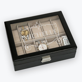 Personalized Name Jewelry And Watch Case