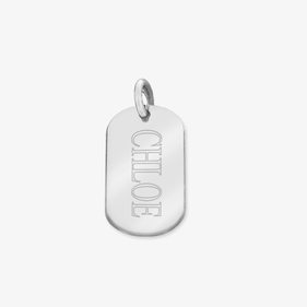 Personalized w/ Name Sterling Silver Oval Pendant