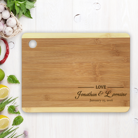 Personalized Names and Date Love Cutting Board
