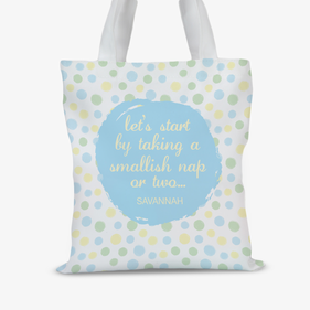 Personalized Nap Time Kids Tote Bag