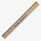 Personalized Natural Finish Wood Ruler