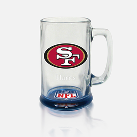 Personalized NFL Bottoms-Up Mug