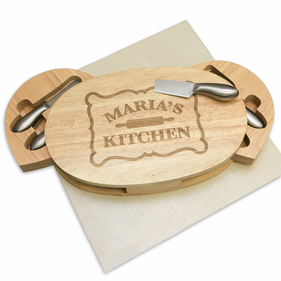 Personalized Oval Wood Cheese Board