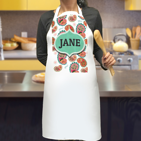 Personalized Paisley Design Apron
