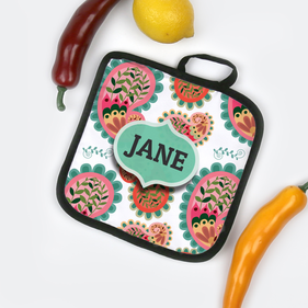 Personalized Paisley Design Potholder