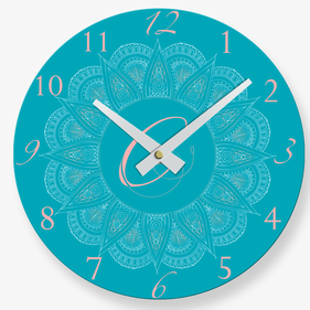 Personalized Paisley Quartz Wall Clock