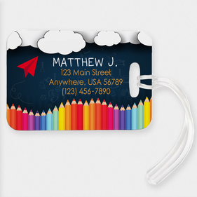 Personalized Paper Plane Name And Address Luggage Tag
