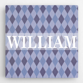 Personalized Pattern Kids Canvas Sign-Boy