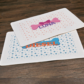 Personalized Pet Place Mat