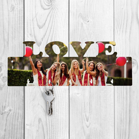 Personalized Photo Love Key Hanger