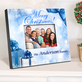 Personalized Picture Frame with Holiday Design