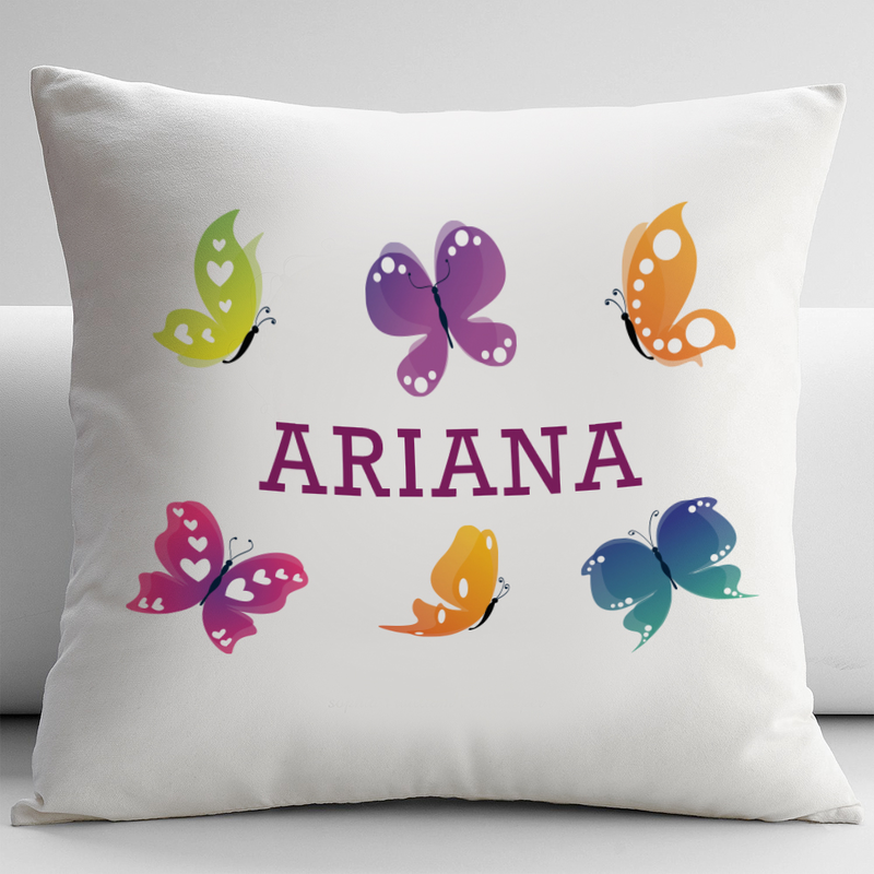 Personalized Butterfly Heart Throw Pillow Cover : Personalized Pillow Cushion Covers - Monogram Online