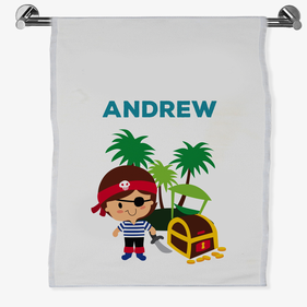 Personalized Pirate Bath Sheet